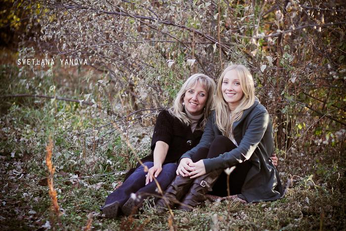Angela and Sarah, Elbow Park, family photos