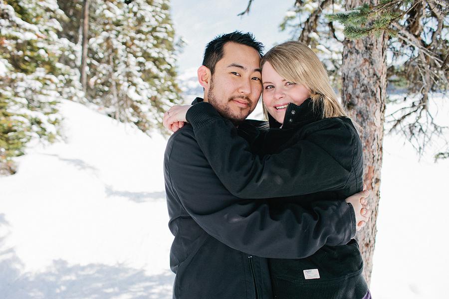 calgary wedding photographer, engagement session in the snow, winter engagement session, fun snowy engagement session, calgary engagement photos, calgary engagement photographers