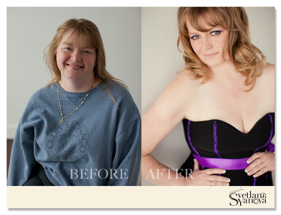 before and after beauty/glamour/boudoir photos