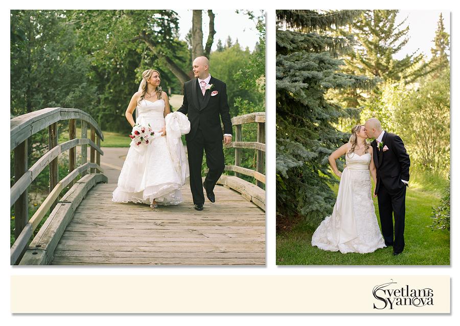 calgary wedding photos, backyard wedding calgary, outside ceremony photos calgary, trolly, edgemont community hall