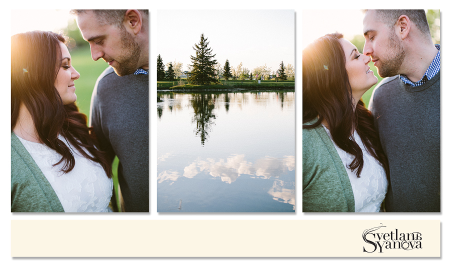 beautiful outdoor engagement photos, in the park, calgary engagement photos,  romantic sunset photos calgary, fun engagement photos, svetlana yanova, relaxed and timeless engagement photos
