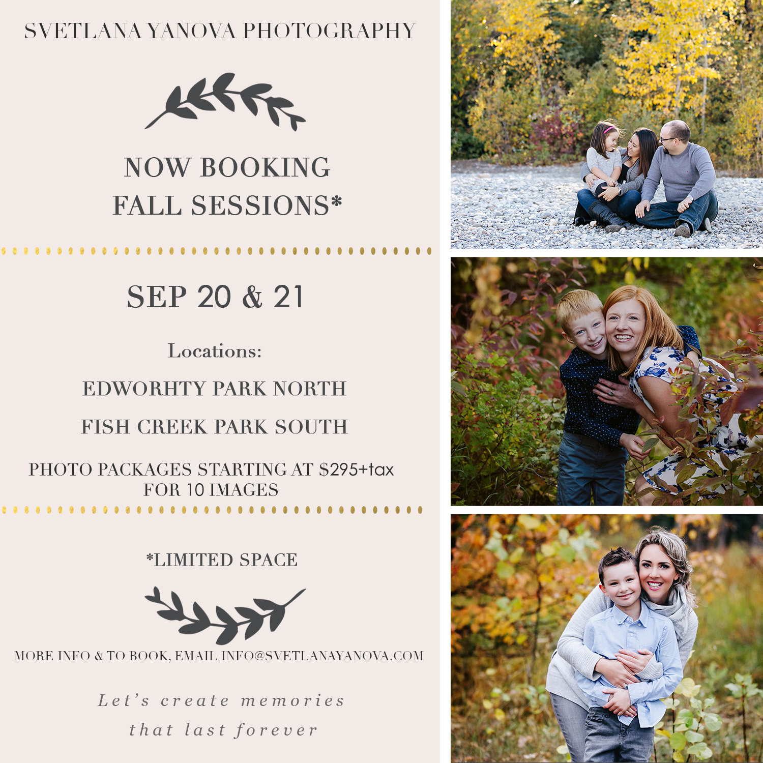 fall sessions calgary, svetlana yanova, mini sessions calgary, fall mini sessions, fall mini sessions promo calgary